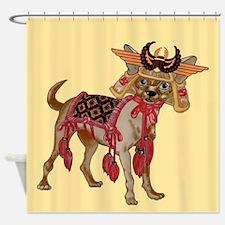 Samurai Chihuahuatrns Shower Curtain