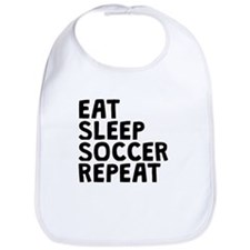 Eat Sleep Soccer Repeat Bib