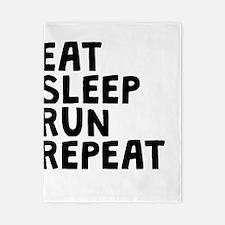 Eat Sleep Run Repeat Twin Duvet