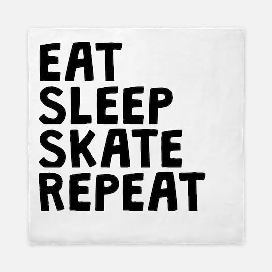 Eat Sleep Skate Repeat Queen Duvet
