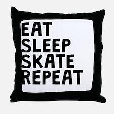 Eat Sleep Skate Repeat Throw Pillow
