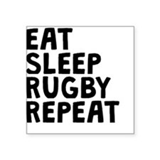 Eat Sleep Rugby Repeat Sticker