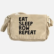 Eat Sleep Row Repeat Messenger Bag