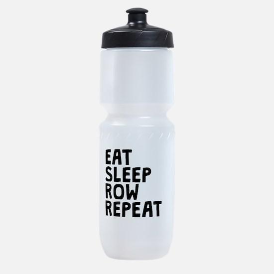 Eat Sleep Row Repeat Sports Bottle