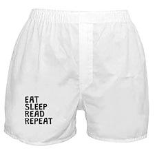 Eat Sleep Read Repeat Boxer Shorts