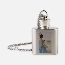 Victorian woman  Flask Necklace