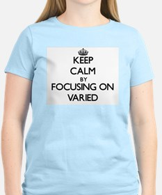 Keep Calm by focusing on Varied T-Shirt