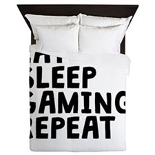 Eat Sleep Gaming Repeat Queen Duvet