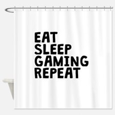 Eat Sleep Gaming Repeat Shower Curtain