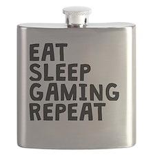 Eat Sleep Gaming Repeat Flask