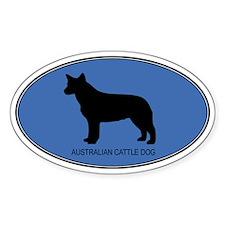 Australian Cattle Dog (oval-b Oval Decal