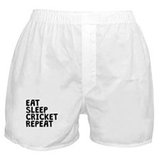Eat Sleep Cricket Repeat Boxer Shorts