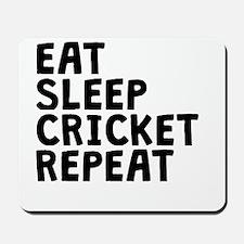 Eat Sleep Cricket Repeat Mousepad