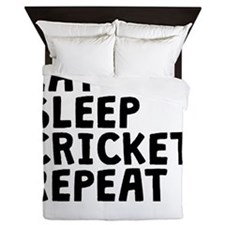 Eat Sleep Cricket Repeat Queen Duvet