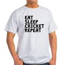 Eat Sleep Cricket Repeat T-Shirt