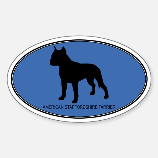 American Staffordshire Tarrie Oval Decal