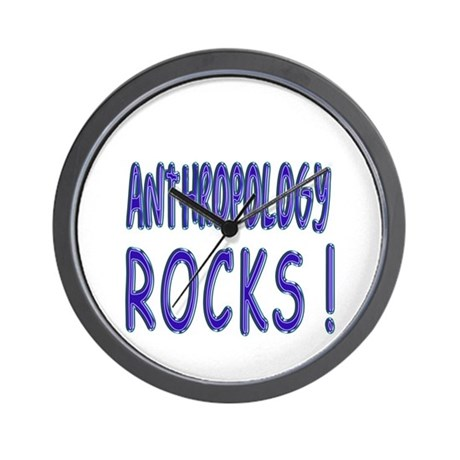 Anthropology Rocks Wall Clock