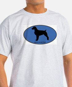 American Brittany (oval-blue) T-Shirt
