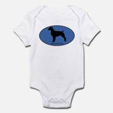 American Brittany (oval-blue) Infant Bodysuit