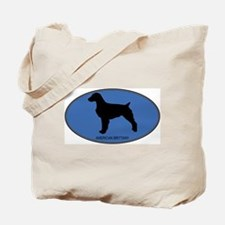 American Brittany (oval-blue) Tote Bag