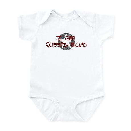 I am Queens Blvd - Red Infant Bodysuit