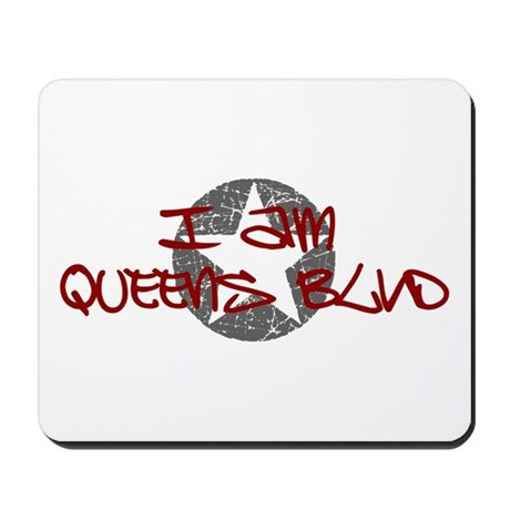I am Queens Blvd - Red Mousepad