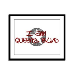 I am Queens Blvd - Red Framed Panel Print