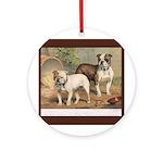 Antique Bulldogs Ornament (Round)