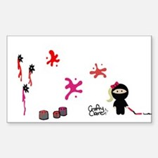 Crafty Claire The Ninja Decal