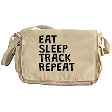 Eat Sleep Track Repeat Messenger Bag