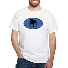 English Bulldog (oval-blue) Shirt