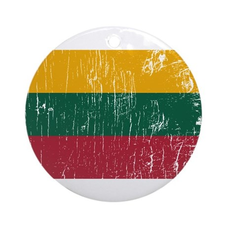 Vintage Lithuania Ornament (Round)