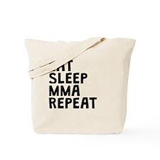 Eat Sleep MMA Repeat Tote Bag