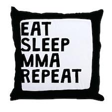 Eat Sleep MMA Repeat Throw Pillow