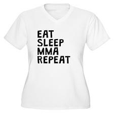Eat Sleep MMA Repeat Plus Size T-Shirt