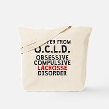 Obsessive Compulsive Lacrosse Disorder Tote Bag