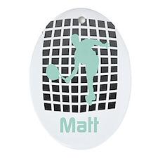 Tennis Fan Name Oval Ornament
