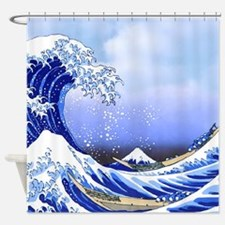 Surfs Up! Great Wave Hokusai Shower Curtain