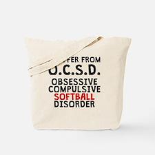 Obsessive Compulsive Softball Disorder Tote Bag
