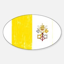 Vintage Vatican Oval Decal
