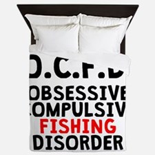 Obsessive Compulsive Fishing Disorder Queen Duvet