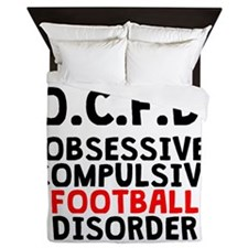Obsessive Compulsive Football Disorder Queen Duvet