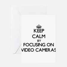 Keep Calm by focusing on Video Came Greeting Cards