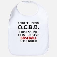 Obsessive Compulsive Baseball Disorder Bib