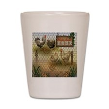 Home Sweet Home Chickens and Roosters Shot Glass