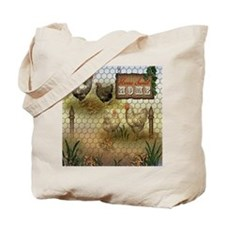Home Sweet Home Chickens and Roosters Tote Bag