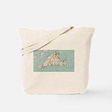 Vintage Map of Martha's Vineyard (1917) Tote Bag