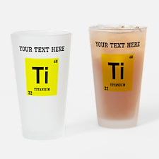 Custom Titanium Drinking Glass