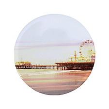 "Santa Monica Pier Sunrise 3.5"" Button"