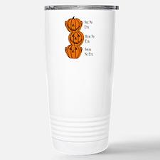 See, Hear, Speak No Evil Pumpkins Travel Mug